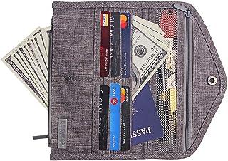 Kukoo Women Envelop Wallet Bifold Multi-Purpose Organizer Purse Travel Clutch Card Holder