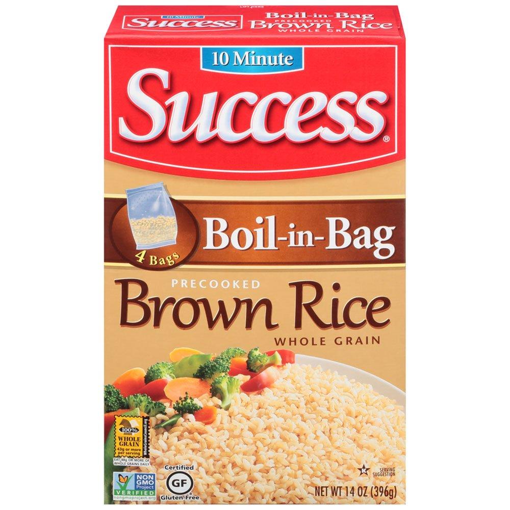 Success Max 88% OFF Boil in Bag Brown Rice 12 of oz Max 73% OFF 14 Pack
