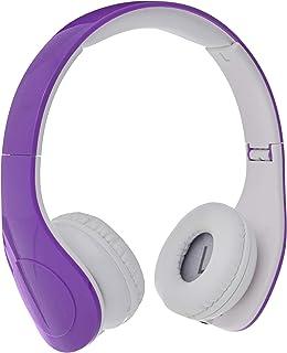 Amazon Basics Casque audio filaire à niveau sonore limité pour enfants avec double entrée pour le partage d'écoute, Violet