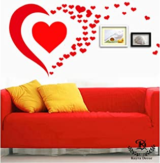 Kayra Decor Heart Reusable DIY Wall Stencil Painting for Home Decoration (PVC, 16-inch x 24-inch)