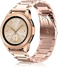 Fintie Correa para Samsung Galaxy Watch Active2/Galaxy Watch Active/Galaxy Watch 42mm/Gear Sport/Gear S2 Classic - 20mm Pulsera de Repuesto de Acero Inoxidable Sólido