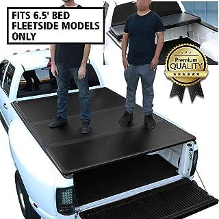 DNA MOTORING TTC-HARD-034 Truck Bed Top Hard Solid Tri-Fold Tonneau Cover