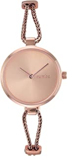 RumbaTime Women's 'Gramercy Mesh' Quartz Stainless Steel Casual Watch, Color:Rose Gold-Toned (Model: 28362)