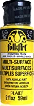 FolkArt Multi-Surface Paint in Assorted Colors (2 oz), 2912, Daffodil Yellow