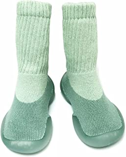 Unisex Baby Boy&Girl Soft Anti-Slip Toddler Shoes,Breathable Rubber Sole Knitting Socks Shoes