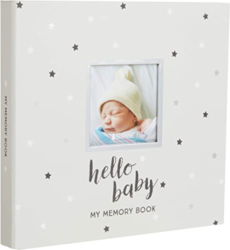 Pearhead Hello Baby, Baby Memory Book with Included Baby Belly Stickers, Cherish Every Precious Moment Of Your Babys ...