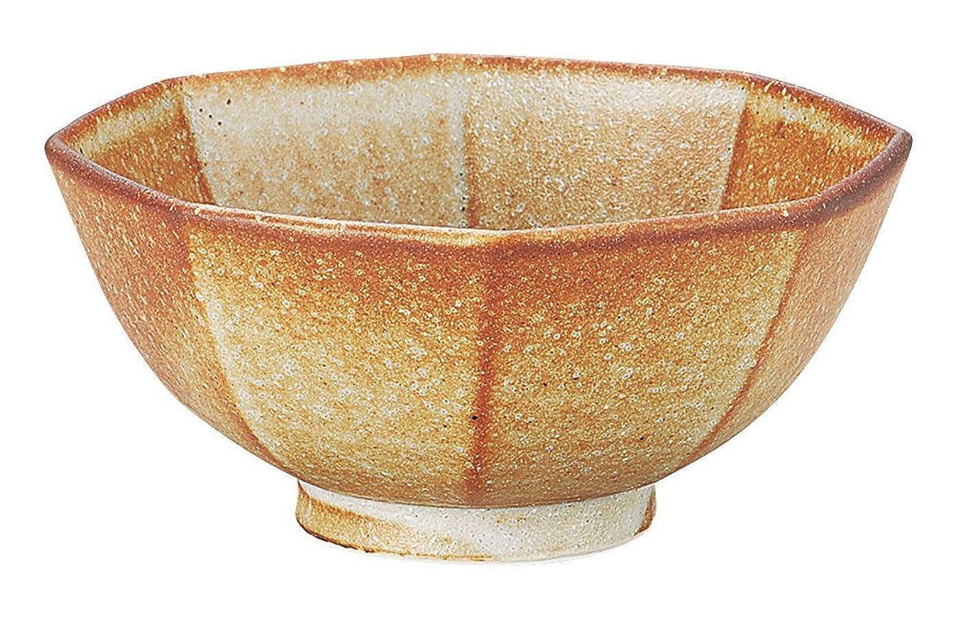 クアッガ研磨剤インシュレータ宗峰窯 丼 しの 6.0 八角 18.7×18×8.5cm 412-10-653