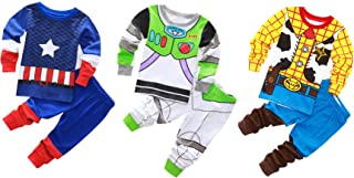 TEDDY Baby Boy Girls Clothing Sets Cotton Pajamas Long Sleeve 6-Piece Sets Sleepwear 1-7 Years