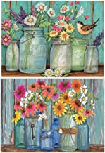 Xinzistar 5D Full Diamond Painting Kit Flowers in a Bottle Scenery Crystal Rhinestone Diamond Embroidery Paintings Picture...
