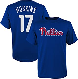 Outerstuff Rhys Hoskins Philadelphia Phillies Blue Youth Name and Number Jersey T-Shirt
