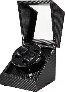 Gifort Remontoir à Montre Ecrins pour 2 Montres Automatiques, Watch Winder Super Silencieux Boîte en Cuir PU Boîtier pour ...