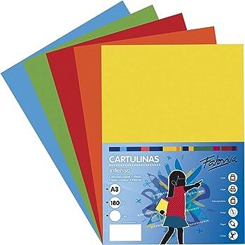 Pack 50 Cartulinas Colores Intensos Tamaño A3 180g: Amazon.es ...