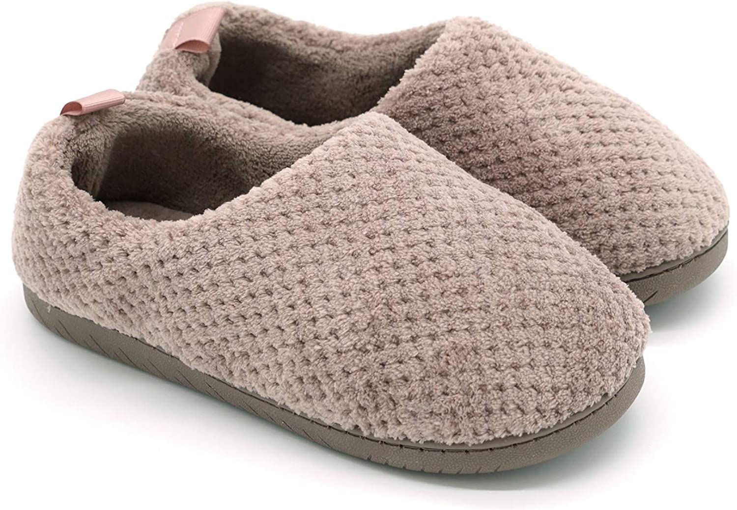 Navoku Women's House Knitted Cozy Indoor Outdoor Booties Slippers