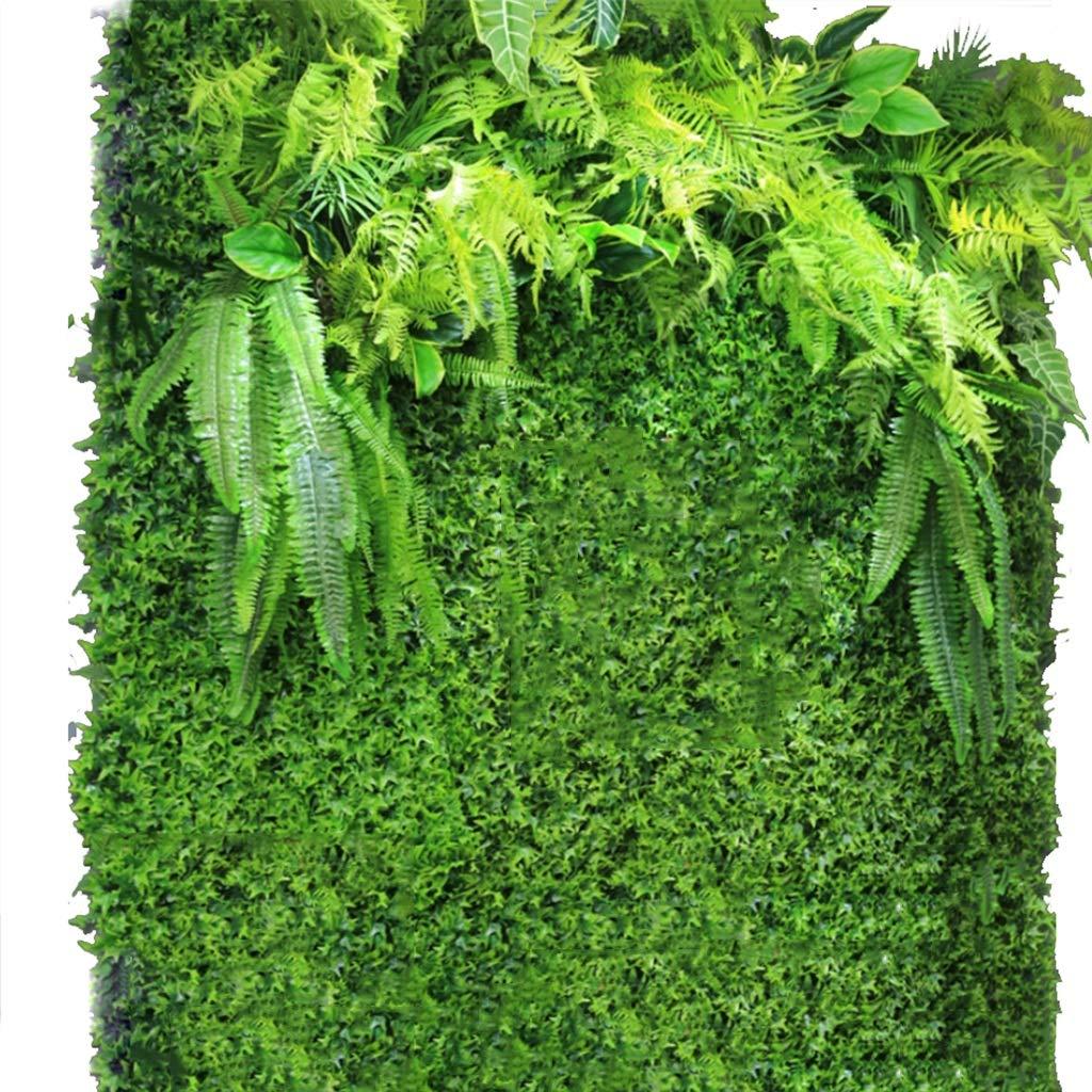 YNFNGXU Seto Artificial con imitación Floral Verde Pantalla de privacidad Fondo Pared de plástico Jardín Decoración de la Pared del hogar (0.96㎡) (Color : 02): Amazon.es: Hogar