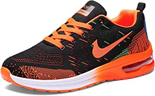 FUNFOAS Mens Trainers Flyknit Sports Running Shoes Air Bottom Casual Trainers