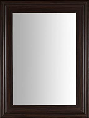 999Store Fiber Framed Large Decorative Wall Mirror Brown (24X18 Inches)