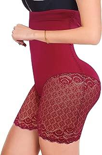 JITIFI Women Tummy Control Body Shapewear Waist Trainer Shaper Butt Lifter Slip Shorts High Waist Lace Thigh Slimmer