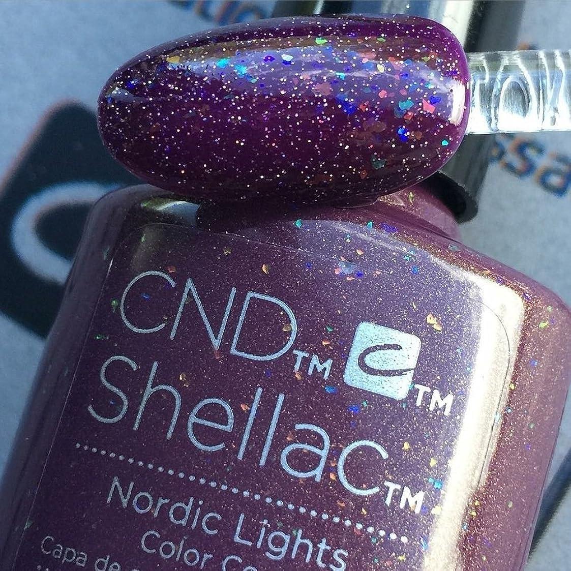 麻痺ブレンド出身地CND シェラック UV カラーコート 211 ノルディックライト Nordic Lights 7.3ml