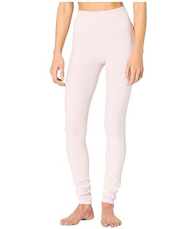 ALO High Waist Lounge Leggings (Soft Pink Heather) Women