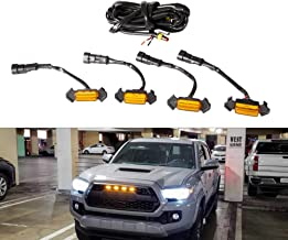 Tepeng 4pcs Front Bumper Grille LED Light for TOYOTA TACOMA TRD PRO 2016-2019