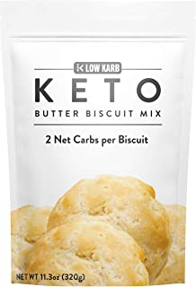 Low Karb - Keto Biscuits Mix - Low Carb Food - Easy to Bake - Breakfast - Only 2g Net Carbs (Butter) (11.3 oz)