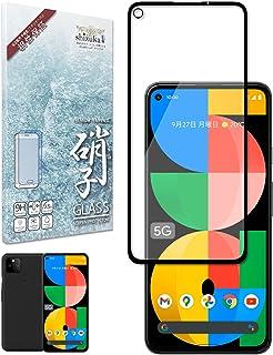 シズカウィル(shizukawill) Google Pixel5a 5G Softbank フィルム フルカバー ガラスフィルム 日本製旭硝子 ブラック 黒色
