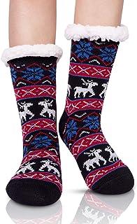 Calcetines de punto de mujer y calcetines de lana cálidos y cómodos 1 par de invierno