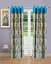 Homefab India Pearl Aqua Blue Door Curtain (7X4ft)(1 pc Curtain)