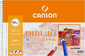 Gvarro Canson 200408061- Bloc A4, 20 Hojas, 130 gr