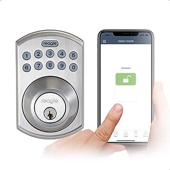 Reagle Smart Lock, Bluetooth Keypad Deadbolt, Apple HomeKit certified, works with Siri, iOS and Android - Satin Nickel