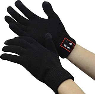 Bluetooth Gloves, Wireless Bluetooth Gloves, Winter Gloves Touch Screen with Built-in Speakers Microphone for Phone Calling, Sports Outdoor, Gifts for Christmas Birthday Festival