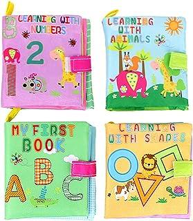 comprar comparacion TOYMYTOY Libro Blando de Bebé Aprendizaje y Educativo - 4 Piezas