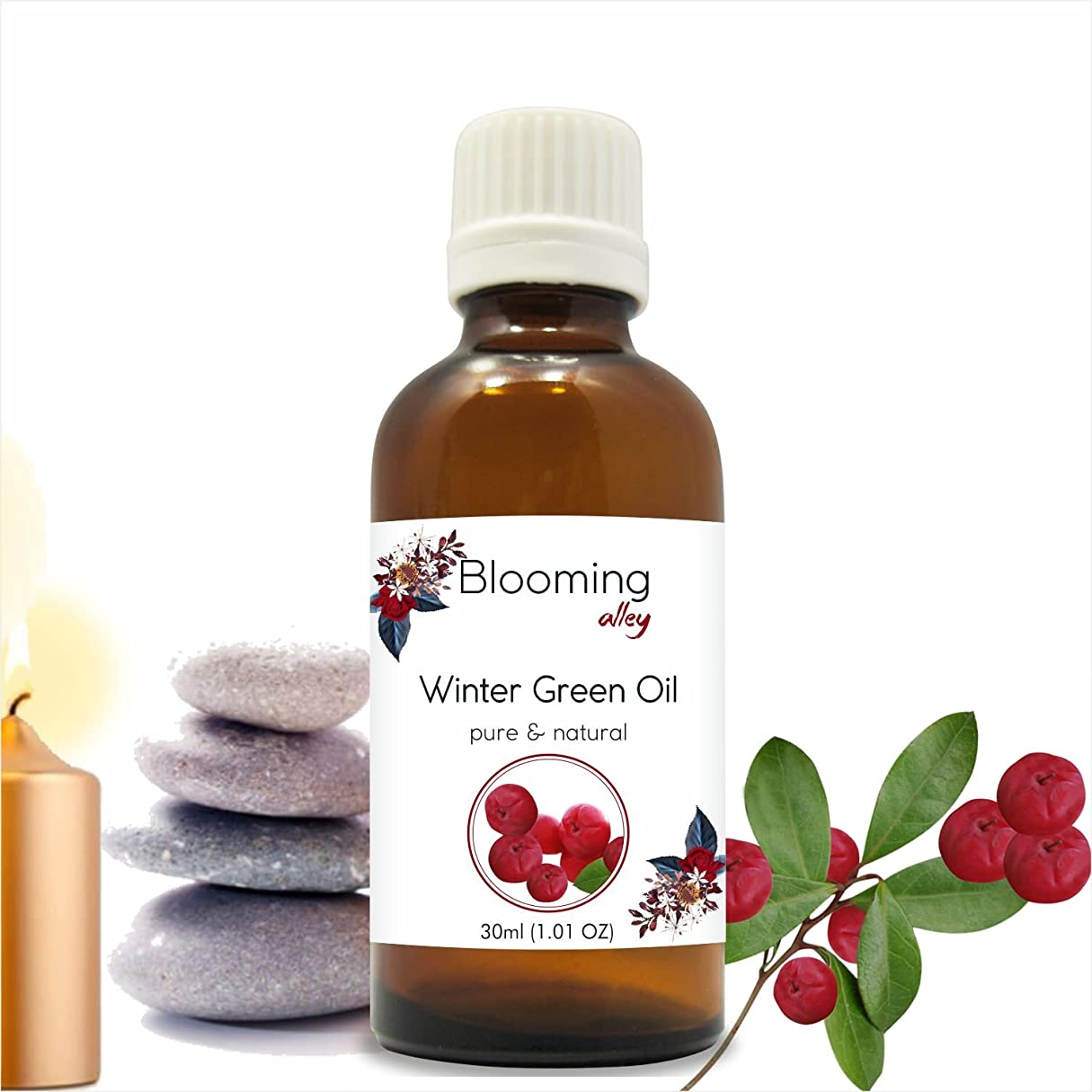 マラドロイトブラウン半導体Wintergreen Oil(Gaultheria Procumbens) Essential Oil 30 ml or 1.0 Fl Oz by Blooming Alley