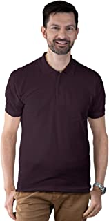 Mens Solid Regular Fit Bio Wash Material Matte Polo T Shirt by AGFX Fastway