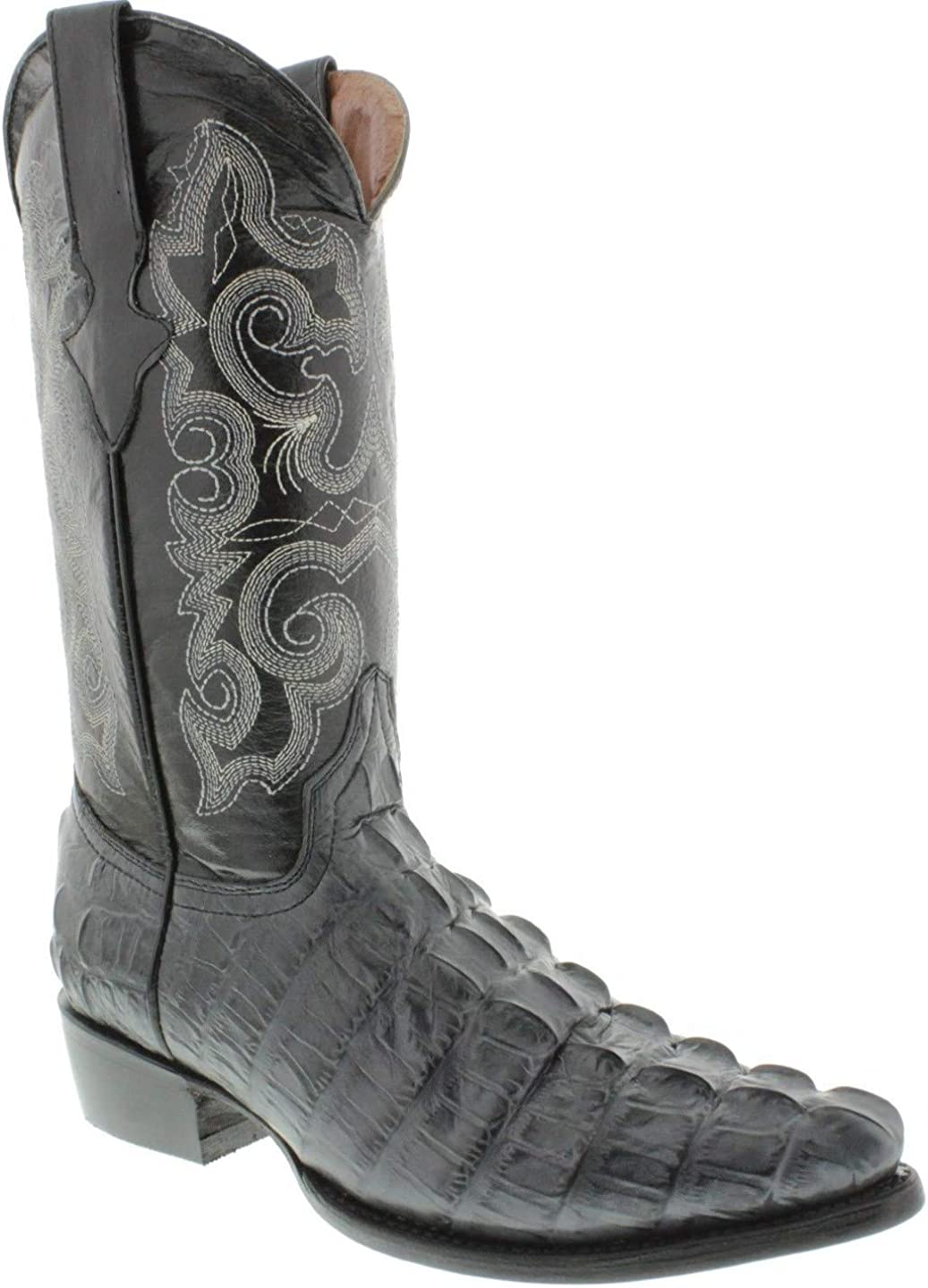 Mens Gray Western Cowboy Boots Crocodile Tail Leather To J Our shop most popular Max 79% OFF Print
