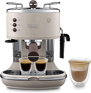 De'Longhi Icona Vintage Espresso Siebträgermaschine ECOV311.BG - mit professioneller Milchaufschäumdüse, 15 bar, 1,4 l, au...