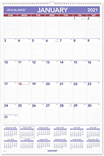 """2021 Wall Calendar by AT-A-GLANCE, 20"""" x 30"""", Extra Large, Monthly, Wirebound (PM42821)"""