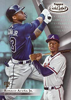 2018 Topps Gold Label Class 2 Baseball #99 Ronald Acuna Jr. Rookie Card