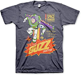 TOY STORY Officially Licensed The Original Buzz Lightyear Mens T-Shirt (Navy-Heather)