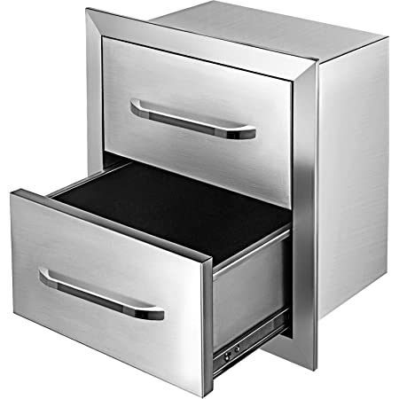 """30/""""x17/"""" BBQ Stainless Steel Triple Drawers Drawer Tracks Access  Outdoor Kitchen"""