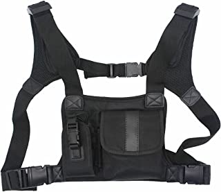 GoodQbuy Universal Radio Harness Chest Rig Bag Pocket Pack Holster Vest for Two Way Radio (Rescue Essentials)