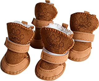 Dog Boots Paw Protector, Anti-Slip Dog Shoes,Dog Australia Boots Pet Antiskid Shoes Winter Warm Skidproof Sneakers, for Small Dog