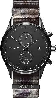 Men's Analog Minimalist Watch with Dual Time Zones