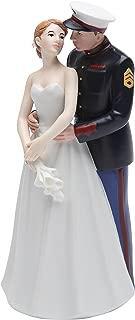 Cosmos Gifts 33267 Ceramic United States Marine Corps Wedding Couple Figurine, 7-Inch