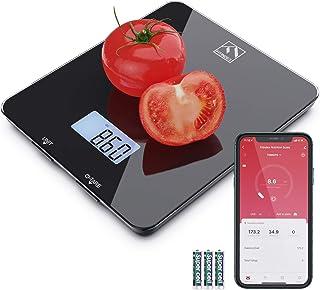 مقیاس تغذیه غذای هوشمند ، مقیاس آشپزخانه دیجیتال بلوتوث FITINDEX با ماشین حساب و تایمر تغذیه ای ، مقیاس چند منظوره قهوه با برنامه تلفن هوشمند برای کتو ، ماکرو ، کالری و کاهش وزن