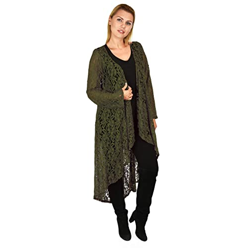 7835a61cc8 Dare2bStylish Women Plus Size High Low Open Front Duster Cardigan Jacket