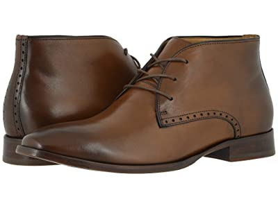 Johnston & Murphy McClain Chukka (Dark Tan Full Grain) Men