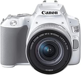 Canon EOS 250D - Cámara Digital (241 MP 6000 x 4000 Pixeles CMOS 4K Ultra HD Pantalla táctil) Blanco - Kit con Cuerpo y EF-S 18-55IS STM