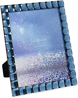 Isaac Jacobs Decorative Sparkling Navy Jewel Picture Frame, Photo Display & Home Décor (8x10, Navy)