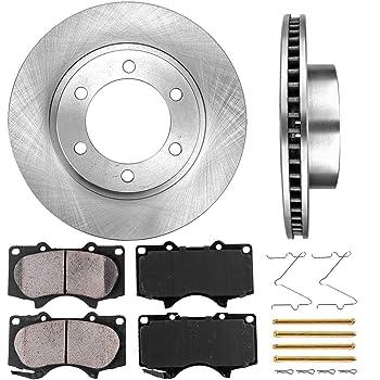 2 Ceramic Brake Pads Clips CRK11287 FRONT 278 mm Premium OE 5 Lug Brake Disc Rotors + 4
